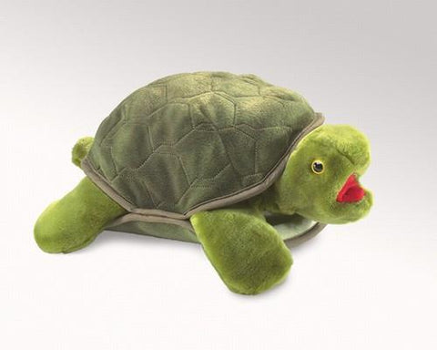 Folkmanis Turtle Hand Puppet - 2021 - Peazz Toys