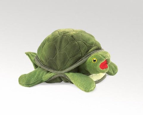 Folkmanis Turtle, Baby Hand Puppet - 2521 - Peazz Toys