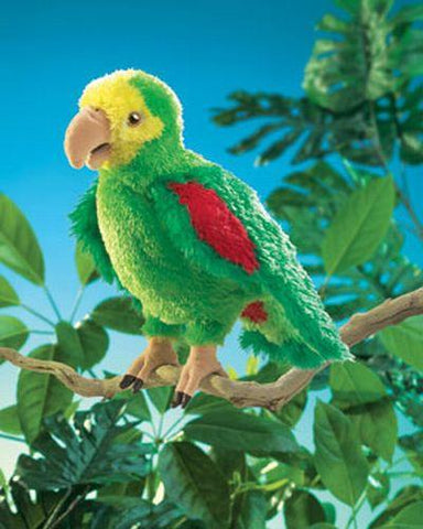 Folkmanis Parrot, Amazon Hand Puppet - 2592 - Peazz Toys