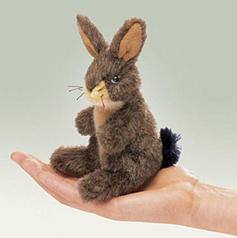 Folkmanis Mini Jack Rabbit Finger Puppet - 2675 - Peazz Toys