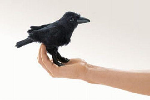 Folkmanis Mini Raven Finger Puppet - 2698 - Peazz Toys