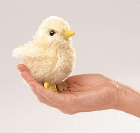 Folkmanis Mini Chick Finger Puppet - 2721 - Peazz Toys
