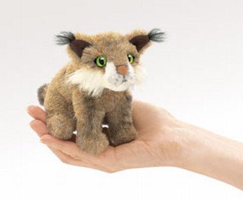 Folkmanis Mini Bobcat Finger Puppet - 2740 - Peazz Toys