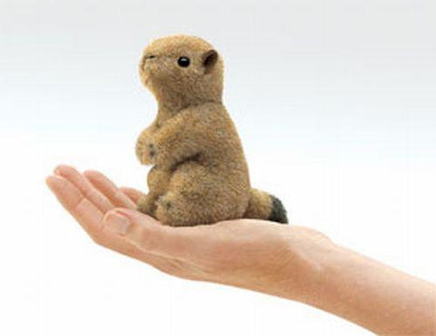 Folkmanis Mini Prairie Dog Finger Puppet - 2744 - Peazz Toys