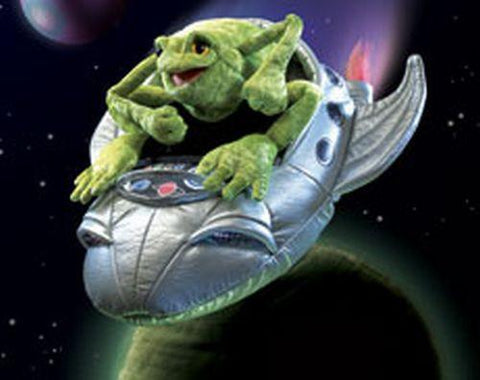Folkmanis Frog In Spaceship Character Puppet - 2837 - Puppethut