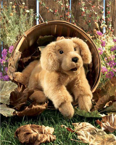 Folkmanis Golden Retriever Puppy Hand Puppet - 2862 - Puppethut