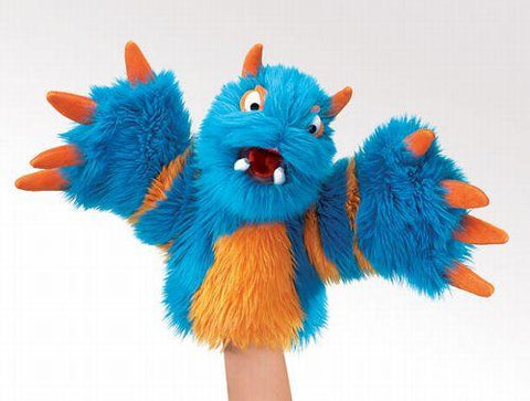 Folkmanis Monster, Blueper Character Puppet - 2897 - Peazz Toys