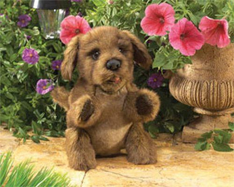Folkmanis Dog, Brown Puppy Hand Puppet - 2915 - Puppethut