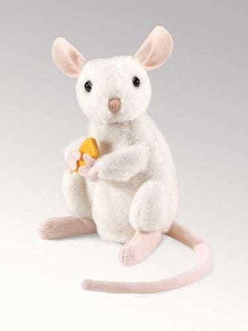 Folkmanis Mouse, Nibbling Turning Head Puppet - 2925 - Peazz Toys
