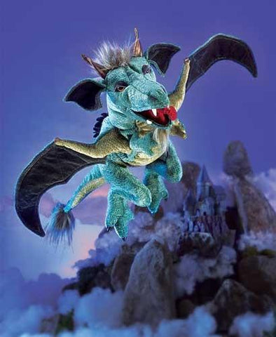 Folkmanis Dragon, Sky Hand Puppet - 2958 - Puppethut