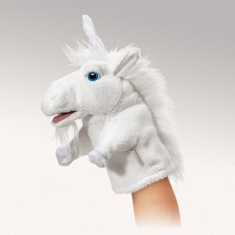 Folkmanis Little Unicorn Little Puppet - 2971 - Puppethut