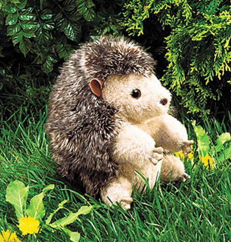 Folkmanis Hedgehog Hand Puppet - 2192 - Peazz Toys