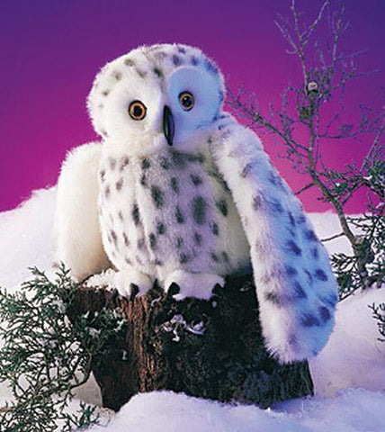 Folkmanis Snowy Owl Hand Puppet - 2236 - Peazz Toys