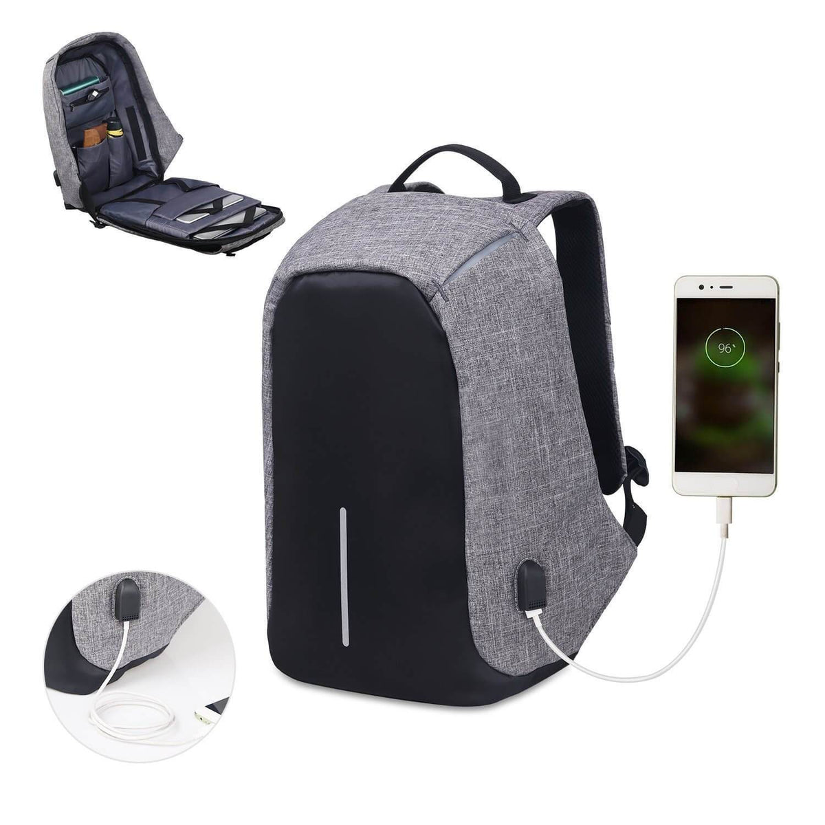 Anti-Theft USB Charging Backpack - Lush & Keen - Awesome Products