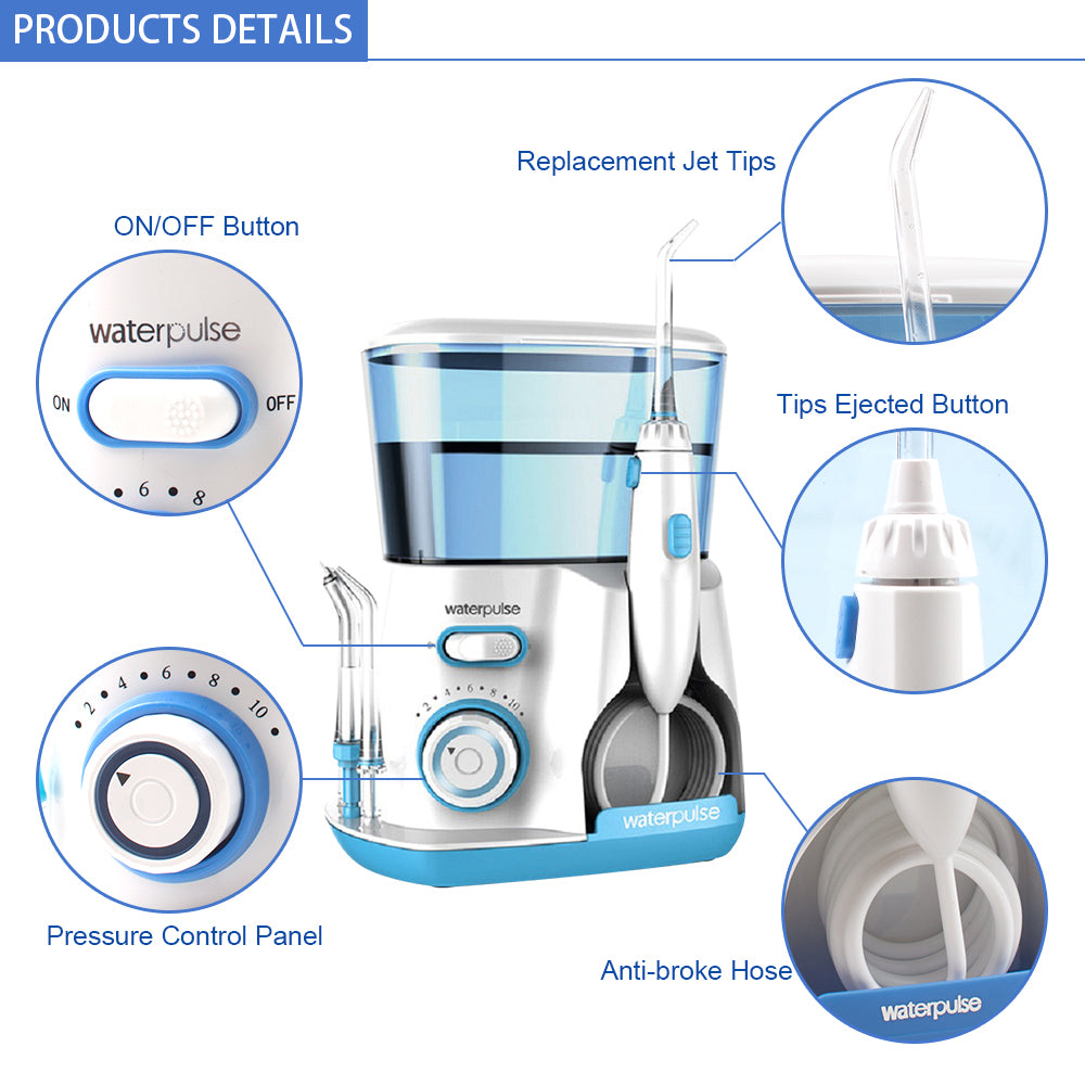 Water Flosser With 5 Tips Electric Oral Irrigator