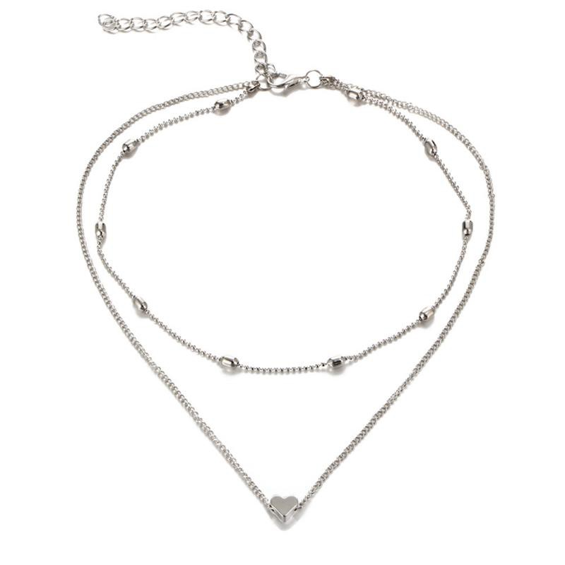 Heart Double Necklace Choker - Lush & Keen - Awesome Products