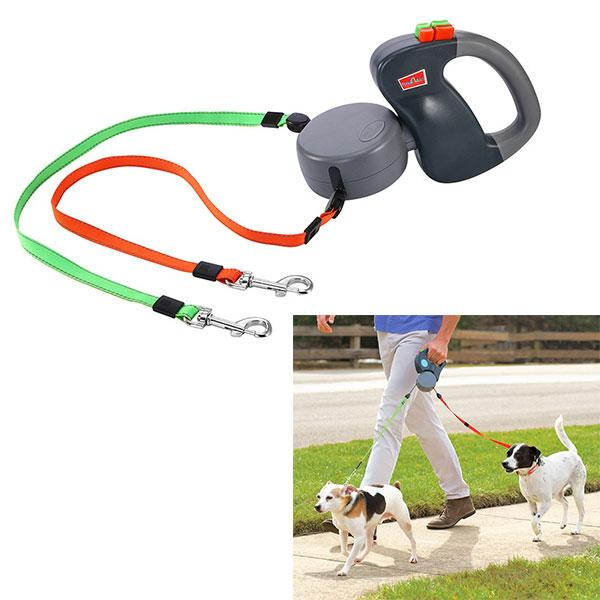 2 Dogs Retractable Leash, 50 pounds per dog leash - Lush & Keen - Awesome Products