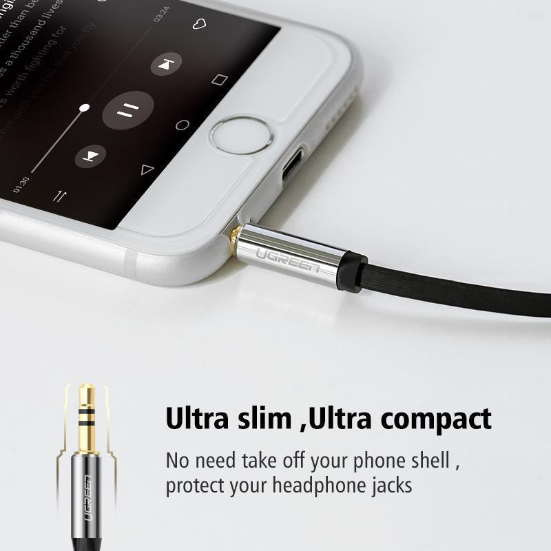 3.5mm audio cable 90 degree right angle - Lush & Keen - Awesome Products