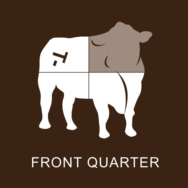 Richards Grassfed Beef Front 1/4 Steer Pack #2 - 97 Lbs