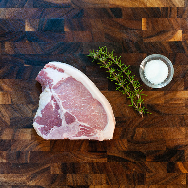 Down the Mountain Farmstead Pastured Pork - Porterhouse Chop 1""