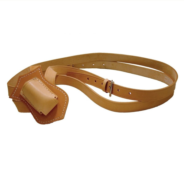 Double Harness Russet Leather Leather Parade Belt