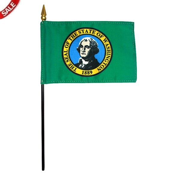 "8"" x 12"" Washington State Stick Flags"