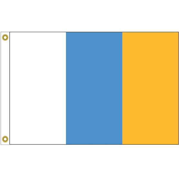 5' x 8' Canary Islands Flag with Brass Grommets