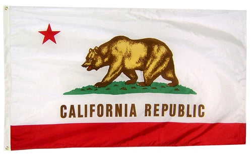 2' x 3' Nylon California Flag with Brass Grommets
