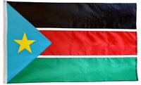 3' x 5' South Sudan Flag with Brass Grommets