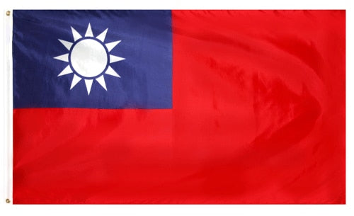 5' x 8' Taiwan Flag with Brass Grommets