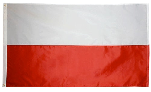 2' x 3' Poland Flag with Brass Grommets