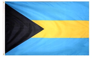 3' x 5' Bahamas Flag with Brass Grommets
