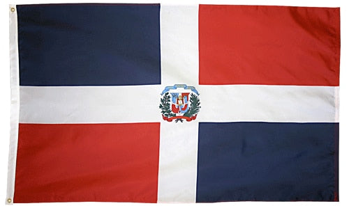 4' x 6' Dominican Republic Flag with Brass Grommets