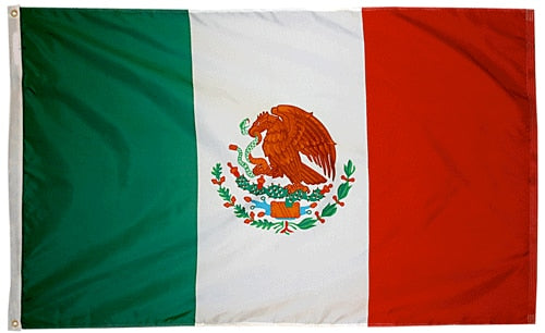 2' x 3' Mexico Flag with Brass Grommets