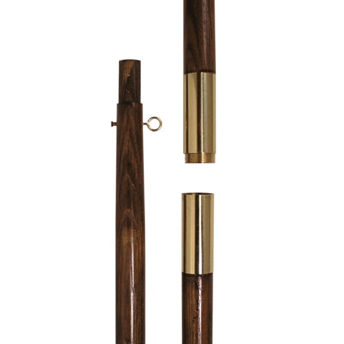 "8' (1"" Diameter) Oak Pole with Brass Finish"