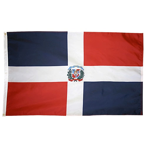 2' x 3' Dominican Republic Flag with Brass Grommets