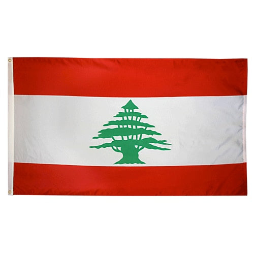 2' x 3' Lebanon Flag with Brass Grommets