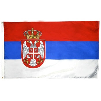 2' x 3' Serbia Flag with Brass Grommets