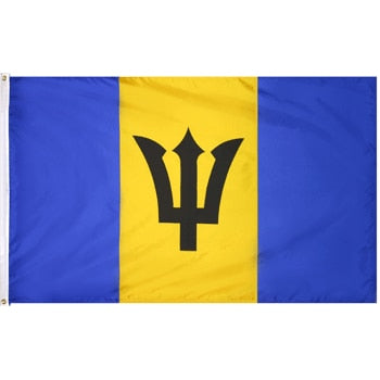 5' x 8' Barbados Flag with Brass Grommets