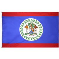 2' x 3' Belize Flag with Brass Grommets