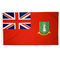 3' x 5' British Virgin Islands Red Flag with Brass Grommets