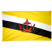 5' x 8' Brunei Flag with Brass Grommets