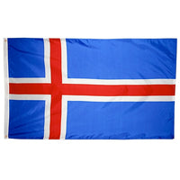 5' x 8' Iceland Flag with Brass Grommets