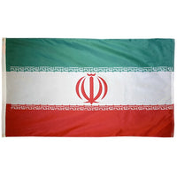 4' x 6' Iran Flag with Sleeve & Gold Fringe
