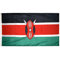 5' x 8' Kenya Flag with Brass Grommets