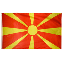 5' x 8' Macedonia Flag with Brass Grommets