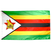 4' x 6' Zimbabwe Flag with Brass Grommets