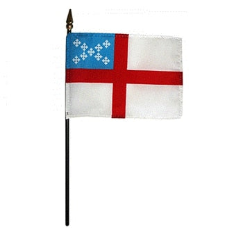 "Episcopal 4"" x 6"" Stick Flag"