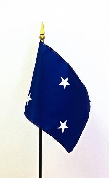 3 Star Navy Officer Stick Flags