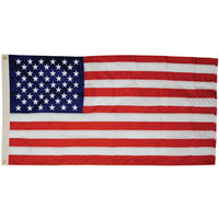 12' x 18' Nylon Outdoor American Flag (Fully Sewn & Lock Stitched) with Rope & Thimbles